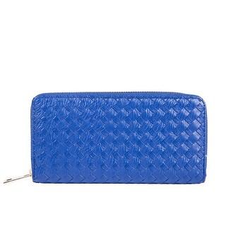Sapphire Blue Interwoven Clutch
