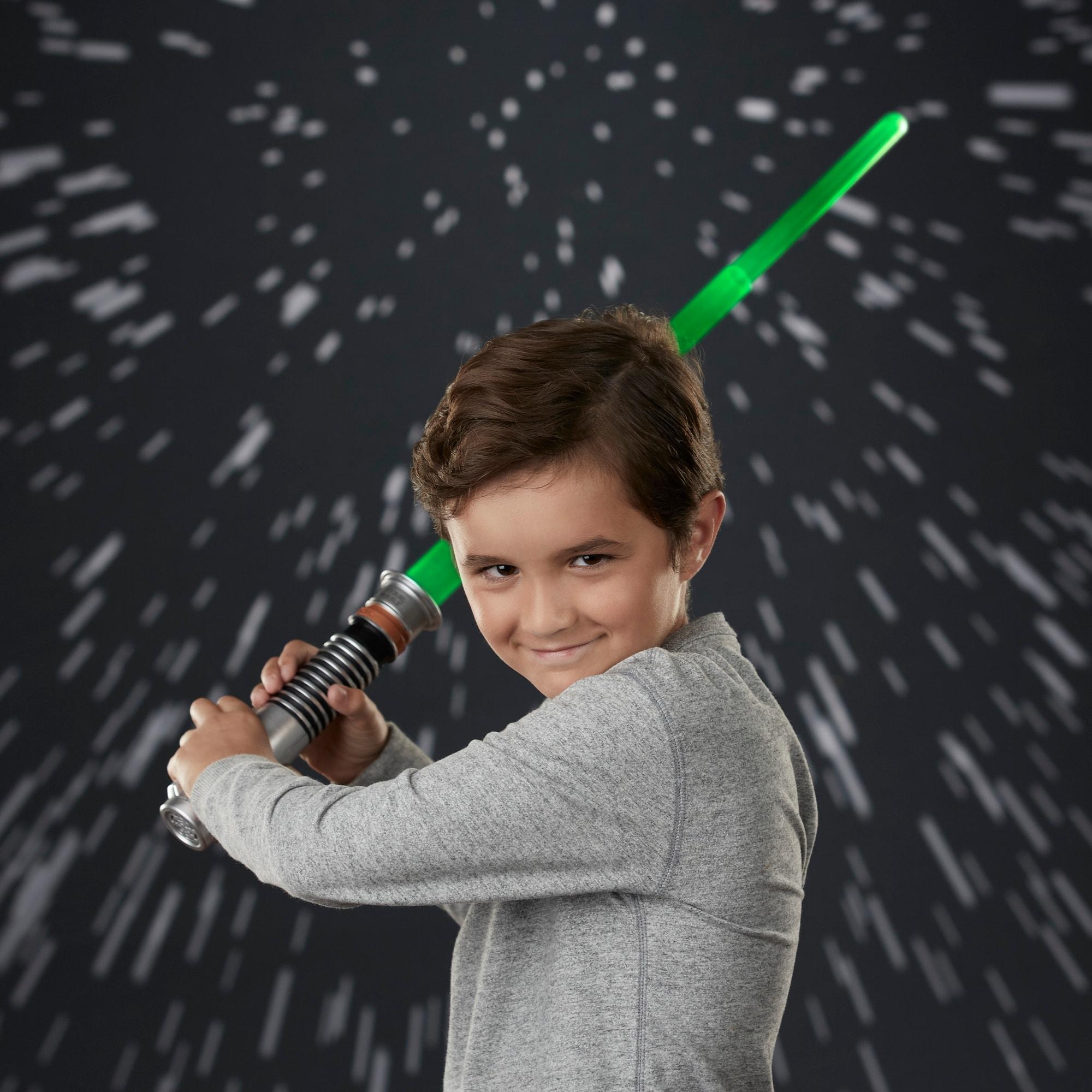 Shop Star Wars Luke Skywalker Electronic Green Lightsaber Toy Overstock 30346091