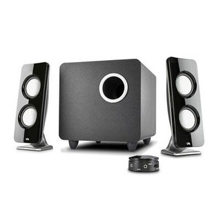 Cyber Acoustics Ca-3610 Immersion 62W Peak Power Speaker System With Control Pod