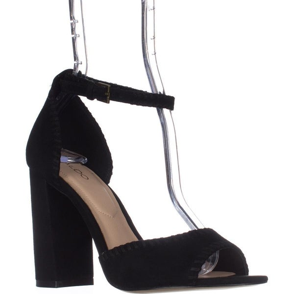 Aldo Elvyne Dress Sandals, Black Suede