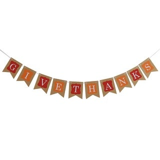 Halloween Thanksgiving Day GIVE THANKS Letter Design DIY Party Decoration Photo Prop Banner