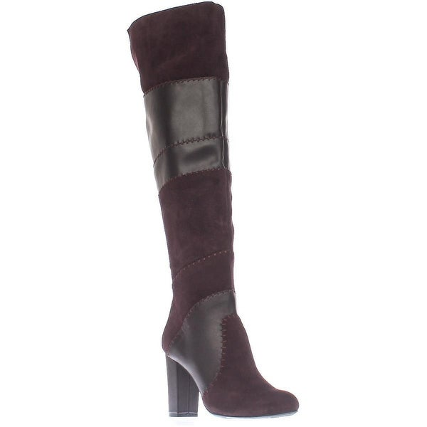 B35 Naomi Stitched Over The Knee Boots, Vamp