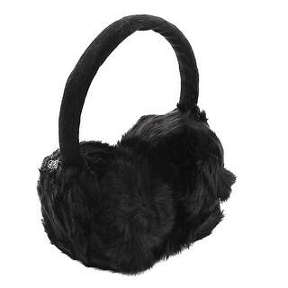 Unique Bargains Woman Lady Winter Soft Plush Earmuffs Ear Warmers Earlap Headband Black