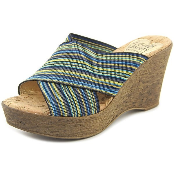 Love and Liberty Montana Women Open Toe Canvas Wedge Sandal