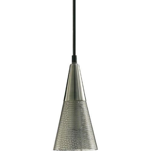 Quorum International Q1315 1 Light Mini Pendant with Metal Cone Shade