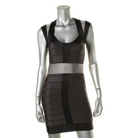 French Connection Womens Colorblock Sheath Cocktail Dress - 4