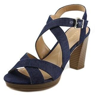 Alfani Palaria Women  Open Toe Leather Blue Sandals