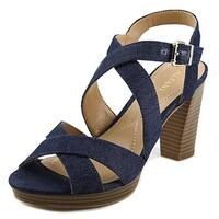 Alfani Palaria Women  Open Toe Leather Blue Sandals
