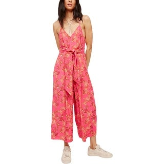 Free People Womens Jumpsuit Floral Print Pull On