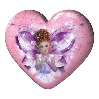 Ravensburger 54 Piece Puzzleball Dahlia Fairy Heart - Pink - 5.0 in. x 3.0 in. x 5.0 in.