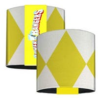 Yellow Ranger Sleeve Diamonds White Yellow Elastic Wrist Cuff