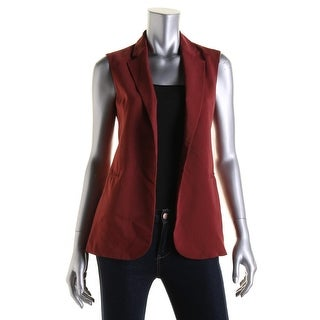 Theory Womens Wool Shawl Collar Casual Vest