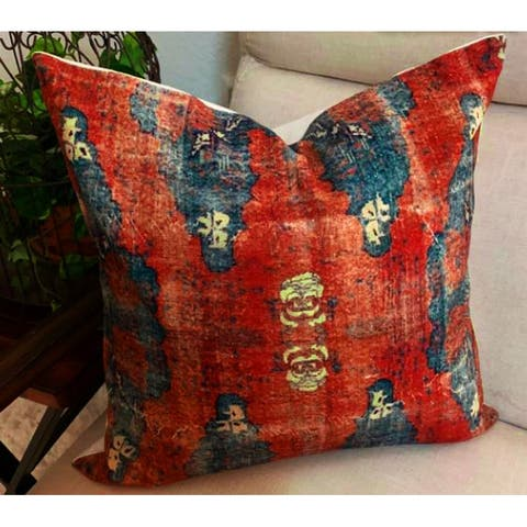 Rani Block Printed Throw Pillow by the Inspiring Home