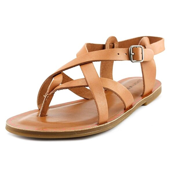 Lucky Brand Adinis Women Open-Toe Leather Tan Slingback Sandal
