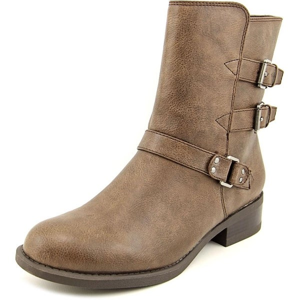American Living Jaqueline Women Round Toe Synthetic Brown Ankle Boot
