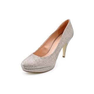 Enzo Angiolini Dixy 2 Women Round Toe Canvas Heels