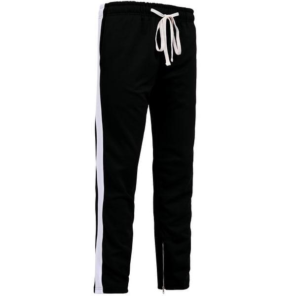 ef72c3af84c11 Shop NE PEOPLE Mens Active Side Striped Jogger Pants W/Ankle Zipper ...