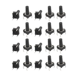20Pcs 6mmx6mmx11mm Panel PCB Momentary Tactile Tact Push Button Switch 4Pin DIP