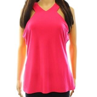 Lauren Ralph Lauren NEW Pink Women's Size XL Solid Jersey Tank Top