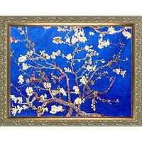 Vincent Van Gogh 'Branches of an Almond Tree in Blossom, Sapphire Blue' Hand Painted Oil Reproduction