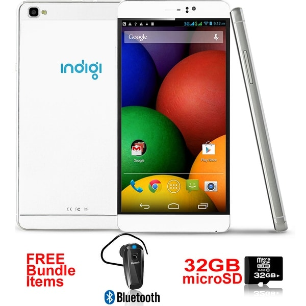 Indigi® 6.0inch Factory unlocked 3G Smartphone Android 5.1 SmartPhone + WiFi + Google Play + Bundle Included - White
