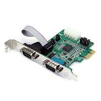 Startech 2 Port Native Pci Express Rs232 Serial Adapter Card With 16950 Uart (Pex2s952)
