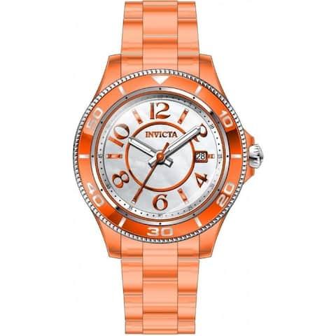 Invicta Women's 30358 'Anatomic' Orange Plastic Watch