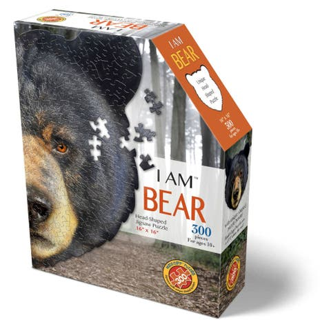 Madd Capp Puzzles - I AM Bear - 300 Pieces - Animal Shaped Jigsaw Puzzle