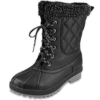 London Fog Womens Swanley Cold Weather Snow Boot