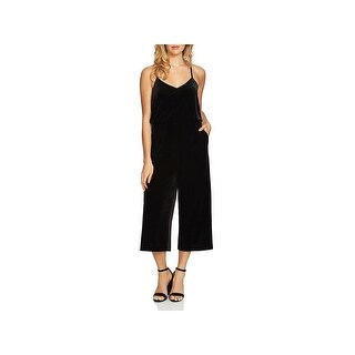 1.State Womens Jumpsuit Velvet Cropped
