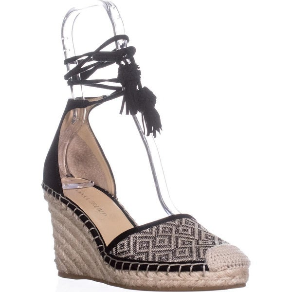 Ivanka Trump Wadia3 Espadrille Wedge Sandals, Black Multi