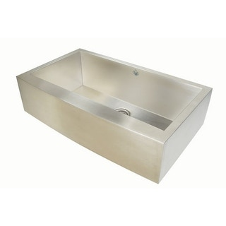 "Artisan CPAZ3621-D10 35-3/4"" Single Basin Farmhouse Stainless Steel Kitchen Sink - Stainless Steel"