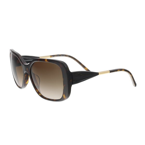 54bba70121d9 Shop Burberry BE4192F 3002 13 Black Brown Square Sunglasses - 56-17 ...