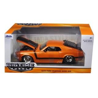 1970 Ford Mustang Boss 429 Orange 1/24 Diecast Model Car by Jada