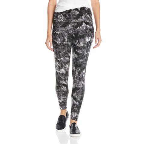 Lysse Womens Leggings Blackbrushed Size Large L Pull-On Ankle Printed