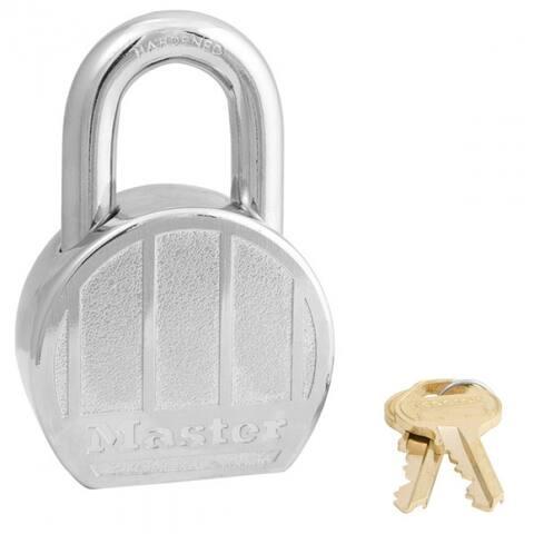 "Master Lock 230DPF Round Body High Security Padlock, 2-1/2"", Zinc Die Cast"