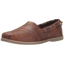 BOBS from Skechers Women's Chill Luxe Shoe, Brown, 10 M US
