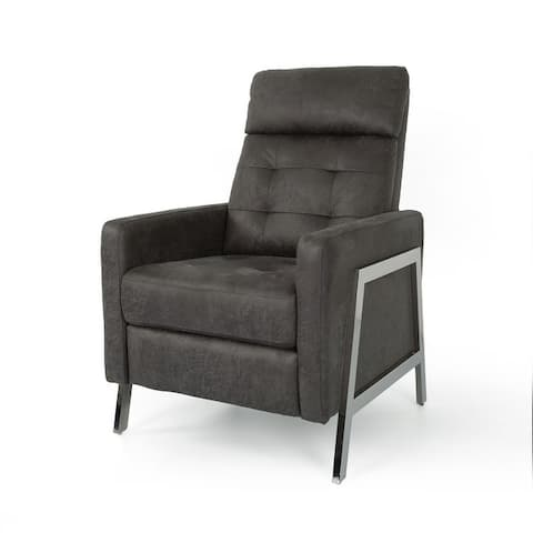 Barnstable Tufted Microfiber Recliner by Christopher Knight Home