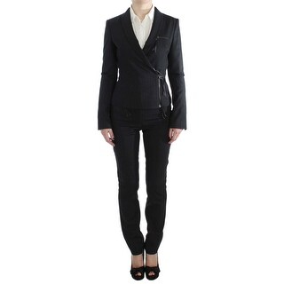 EXTE Gray Two Piece Suit Zipper Jacket Pants - it42-m