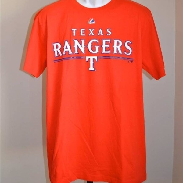 first rate ca5d3 3a414 Texas Rangers Mens Size Large (L) Red Shirt By Majestic