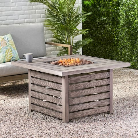 """Elberton Outdoor 39"""" Outdoor 50,000 BTU Square Fire Pit by Christopher Knight Home"""