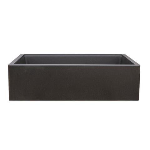 Titan Farmhouse Granite Single Bowl Kitchen Sink with Cutting-Board & Strainer