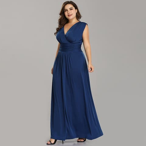 Buy Blue Women\'s Plus-Size Dresses Online at Overstock | Our Best ...