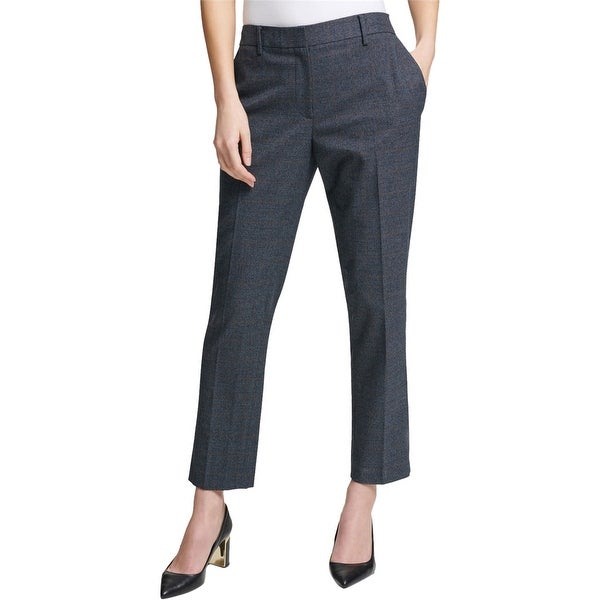 DKNY Womens Plaid Casual Trouser Pants, Blue, 12. Opens flyout.