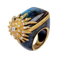 Cristina Sabatini Labradorite Starburst Ring in 14K Gold-Plated Sterling Silver