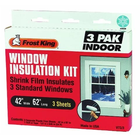 "Frost King V73/3H Indoor Window Insulator Kit, 42"" x 62"""