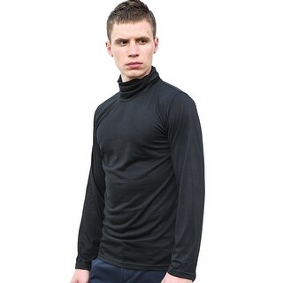 Unique Bargains Men's Turtle Neck Full Sleeves Stretchy Slim Fit Shirt