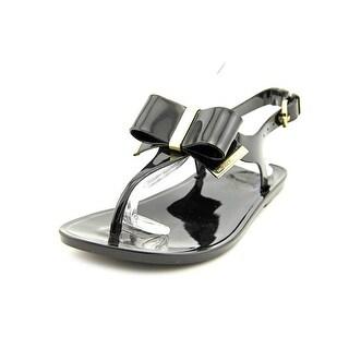 Michael Michael Kors Kayden Jelly Women  Open Toe Synthetic Black Thong Sandal