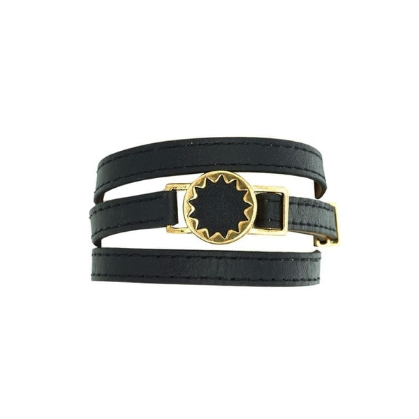 House Of Harlow 1960 Womens Bracelet Leather Sunburst