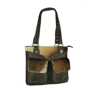 Link to Montana West Trinity Ranch Hair-On Leather Trim Shoulder Tote Bag Similar Items in Shop By Style